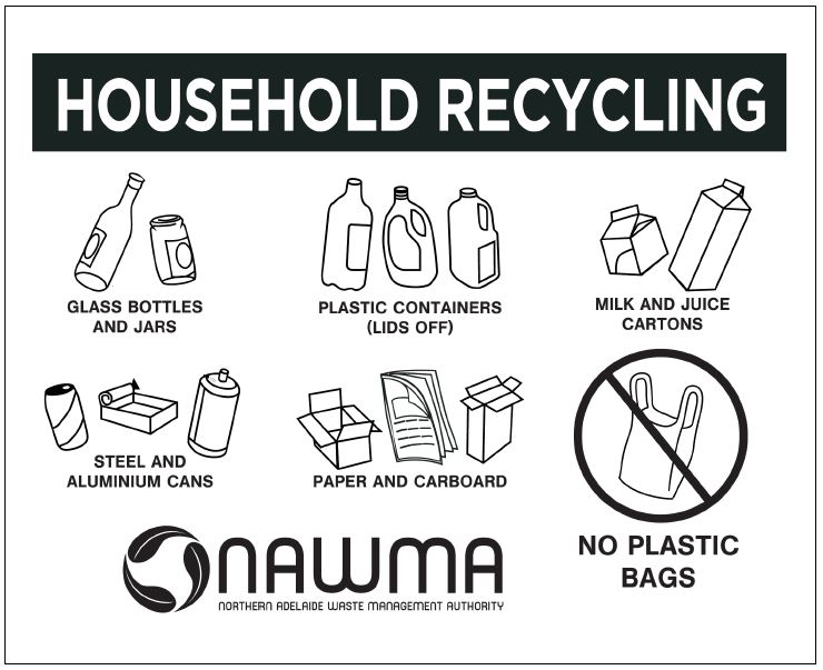 NAWMA Household Recycling bin stamp