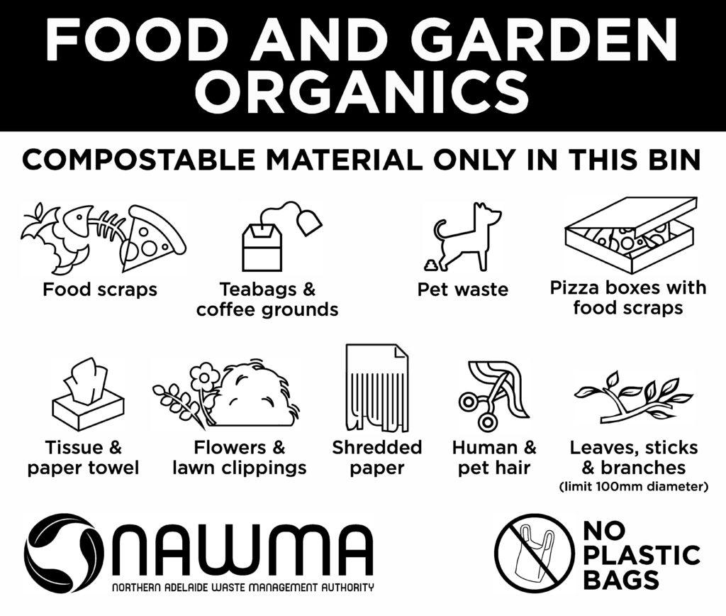 NAWMA Food & Garden Organics bin stamp