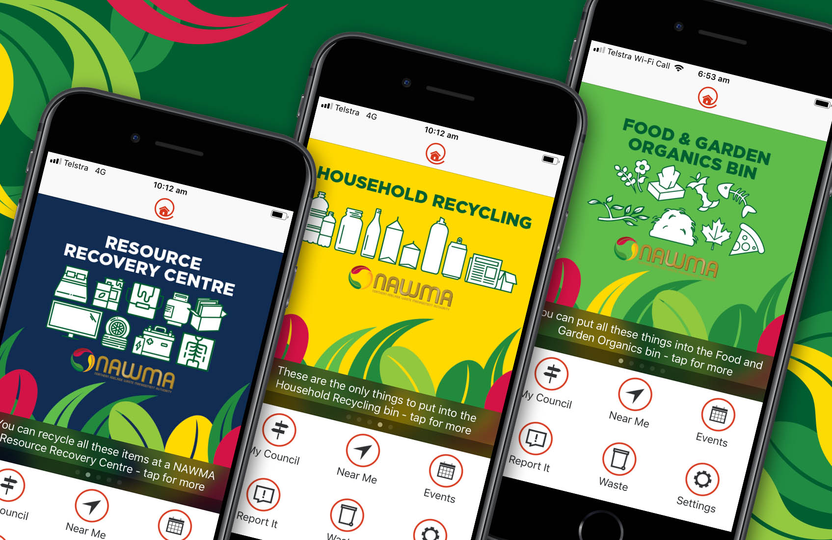 Receive bin collection reminders and recycling tips on your phone