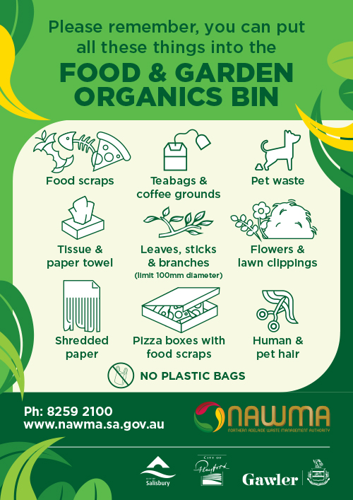 NAWMA Food and Organics Bin Poster