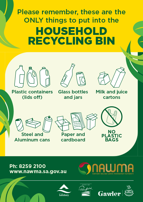 NAWMA Household Recycling Bin Poster